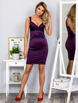 Fioletowa sukienka z cekinowymi wstawkami                                  zdj.                                  4