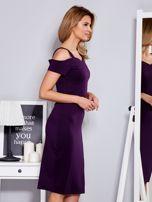 Fioletowa sukienka z dekoltem serce                                  zdj.                                  3