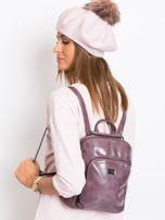 Fioletowy plecak damski ze skóry ekologicznej                                  zdj.                                  5