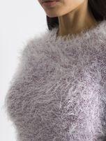 Fioletowy sweter z długim włosem i cekinami                                  zdj.                                  6
