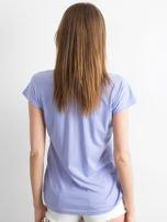 Fioletowy t-shirt w zygzaki                                  zdj.                                  2