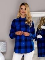 Flanelowa koszula w kratę niebieska                                  zdj.                                  1