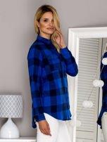 Flanelowa koszula w kratę niebieska                                  zdj.                                  3