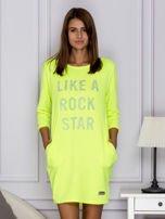Fluo zielona sukienka LIKE A ROCK STAR                                  zdj.                                  1