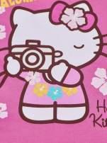 Fuksjowa sukienka dla dziewczynki z kokardką HELLO KITTY                                  zdj.                                  5