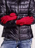 Grafitowe rękawiczki z kokardką i długim ściągaczem                                                                          zdj.                                                                         2