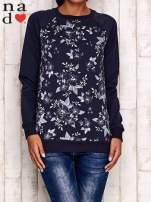 Grafitowa bluza z kwiatowym nadrukiem                                  zdj.                                  1