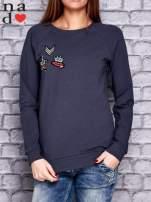 Grafitowa bluza z naszywkami                                  zdj.                                  1