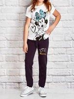 Grafitowe spodnie dresowe dla dziewczynki nadruk kota                                  zdj.                                  4