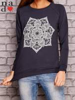 Grafitowy bluza z ornamentowym nadrukiem                                  zdj.                                  1