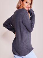 Grafitowy luźny sweter                                   zdj.                                  6