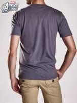 Grafitowy t-shirt męski AVENGERS                                  zdj.                                  2