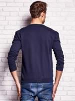 Granatowa bluza męska z napisem NEW YORK                                  zdj.                                  2