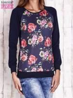 Granatowa bluza w kwiaty                                  zdj.                                  3