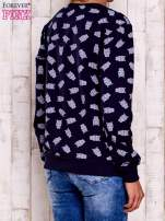Granatowa bluza z motywem sów