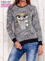 Granatowa bluza z motywem sowy                                                                          zdj.                                                                         1