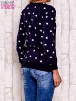 Granatowa bluza z nadrukiem jabłuszka