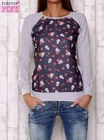 Granatowa bluza z nadrukiem pand                                  zdj.                                  1