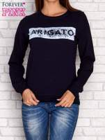 Granatowa bluza z napisem ARIGATO                                                                          zdj.                                                                         1