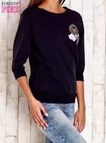 Koralowa bluza z naszywkami i ściągaczami                                                                          zdj.                                                                         3