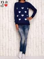 Granatowa bluza z serduszkami                                  zdj.                                  2