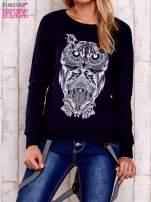 Granatowa bluza z sową                                                                          zdj.                                                                         1