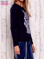 Granatowa bluza z sową                                                                          zdj.                                                                         3
