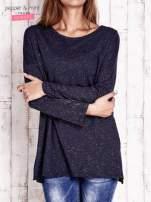 Granatowa brokatowa bluzka oversize