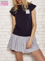 Różowa dresowa sukienka tenisowa z kieszonką                                                                          zdj.                                                                         1