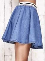 Granatowa rozkloszowana spódnica z gumką w pasie                                  zdj.                                  9