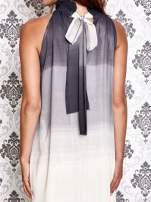 Granatowa sukienka maxi z wiązaniem na plecach                                  zdj.                                  4
