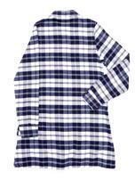 Granatowa sukienka w kratę dla dziewczynki                                  zdj.                                  7