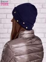 Granatowa wywijana czapka ze złotymi ćwiekami                                  zdj.                                  2