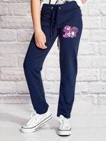 Granatowe spodnie dresowe dla dziewczynki LITTLE PONY                                  zdj.                                  1