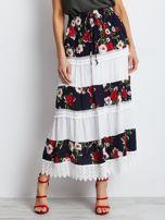 Granatowo-biała spódnica Breakout                                  zdj.                                  1