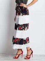 Granatowo-biała spódnica Breakout                                  zdj.                                  3