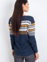 Granatowo-brązowy sweter Attitiude                                  zdj.                                  2