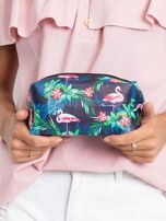 Granatowo-różowa torba z nadrukiem                                  zdj.                                  4