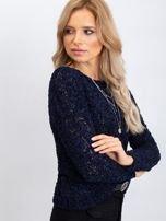 Granatowy sweter Jessica                                  zdj.                                  3