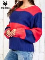 Granatowy sweter w pasy                                                                           zdj.                                                                         4