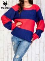 Granatowy sweter w pasy                                   zdj.                                  1
