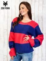 Granatowy sweter w pasy                                   zdj.                                  3