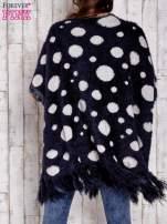 Granatowy włochaty sweter w grochy                                                                          zdj.                                                                         4