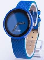 Granatowy zegarek damski na pasku                                                                          zdj.                                                                         1