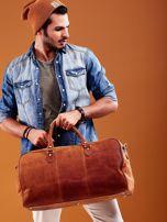 Jasnobrązowa skórzana męska torba podróżna                                  zdj.                                  2