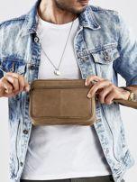 Jasnobrązowa skórzana torba męska do ręki z uchwytem                                  zdj.                                  4