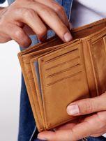 Jasnobrązowy skórzany portfel męski z przywieszką                                  zdj.                                  2