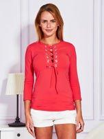 Jasnoczerwona bluzka lace up                                  zdj.                                  1