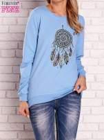 Jasnoniebieska bluza z nadrukiem łapacza snów                                  zdj.                                  1
