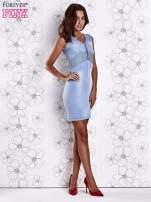 Jasnoniebieska denimowa sukienka z suwakiem                                  zdj.                                  4